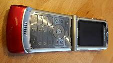 Motorola RAZR v3 Rosso/brandingfrei/simlockfrei/pieghevole CELLULARE * COME NUOVO *