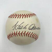 rare 1970's Hank Aaron Playing Days Signed Atlanta Braves Baseball PSA DNA COA