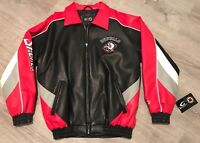 NWT Vintage 90s Mens Medium Buffalo Sabres NHL Official Deadstock Leather Jacket