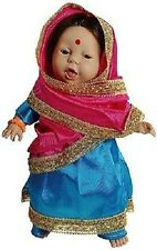 ASIAN INDIAN HINDU SIKH ETHNIC BABY GIRL DOLLS OF THE WORLD GIFT BOXED 14""