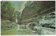 CENTRAL CASCADE Watkins Glen State Park NY Postcard Finger Lakes Waterfalls