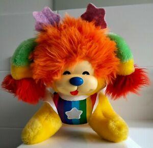 Retro Vintage Mattel Rainbow 🌈 Puppy Brite dog toy plush 1980s 🌈
