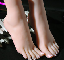 Top Quality Silicone Female Feet Mannequin Arbitrarily Posedbentsoft Size 38