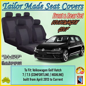 Tailor Made Seat Covers for Volkswagen (VW) Golf Hatch 7/7.5: 04/2013 to Current