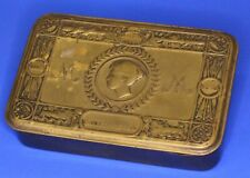 More details for 1914 princess mary ww1 christmas brass chocolate tobacco cigarette tin *[21703]