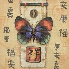 Dimensions ORIENTAL BUTTERFLY Counted Cross Stitch Kit #35034
