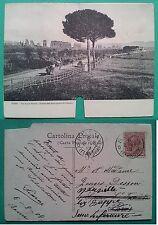 Roma 1908: Via Appia Nuova: Avanzi dell'Acquedotto di Claudio cartolina apribile