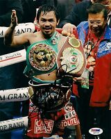 Manny Pacquiao Signed 8x10 Photo Picture PSA/DNA COA Auto'd w/ WBC WBO Pacman