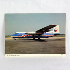 Air UK - HP Herald - G BCWE - Aircraft Postcard - Top Quality