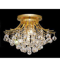 Palace Contour 6 Light Crystal Chandelier Flush Mount Light -G Precio Mayorista