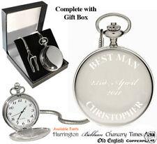 Best Man Engraved Personalised Pocket Watch Bestman