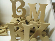 20 WOODEN LETTERS (A-Z  Available) Victorian font Large 155mm high,18mm thick
