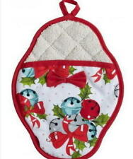 Jessie Steel JINGLE BELLS Scalloped Potholder (NEW WITH TAGS)