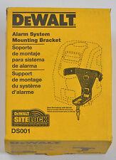 Dewalt Site Lock Alarm System Mounting Bracket Ds001 For Ds100 Base Unit W/ Keys