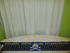 """Braunschweig,Bremen Anti Hannover Schal """"SCHWARZ-WEISS-GRÜNE AFFENSCHEISSE"""" TOP"""
