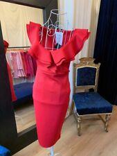 Vestido De Fiesta Rojo Damas Vestidos Boda Invitado Vestido De Navidad Hecho Uk Rrp £ 55