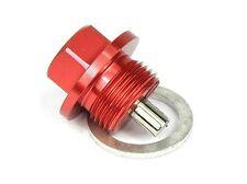 Magnetic Oil Sump Drain Plug - Suzuki 1981-1985 -  M12x1.25 RED Includes washer