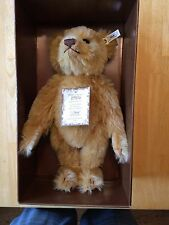 "Steiff Teddy Bear Jointed Mohair Blonde 13"" 1906 Replica UK LE 406096 0174/33NEW"
