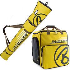 BRUBAKER 'Super Champion' Kombi Set Ski Stiefeltasche + Skisack 190cm Gelb Braun