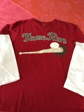 GYMBOREE double tee shirt garçon 12 ans, thème base ball, *** promo ***