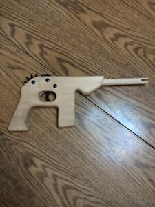 Vintage Wooden Rubber Band Pistol Retro Wood Rubber Band Gun-- Free Shipping!