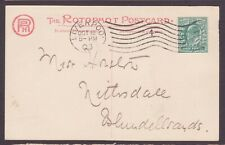 Liverpool Boston 4 Machine Cancellation on Rotophot Postcard with Horse Head