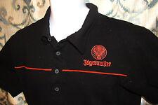 Jagermeister Polo Logo Shirt Men's Size Medium 100% Cotton Embroidered Black