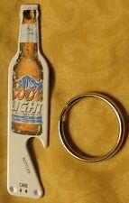 Coors Light Bottle Opener / Key Chain - White Metal - NEW