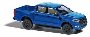 HO 1:87 Busch # 52808 - 2016 Ford Ranger Crew Cab Pickup Truck - Metallic Blue