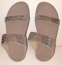 44bcef8f2 FitFlop Wedge Women s FLARE Slide Sandal Pebble Size 7 M Women
