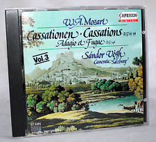 CD MOZART - Cassations, K. 63 and 99 / Adagio and Fugue, K. 546 - Sándor Végh