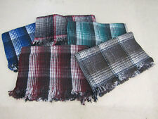 #4358 One Traditional Mexico Recycled Wool Fiber Blanket Yoga Accessories Plaid