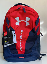 NEW! UNDER ARMOUR RED HUSTLE 3.0 STORM LAPTOP FRIENDLY TRAVEL SCHOOL BACKPACK