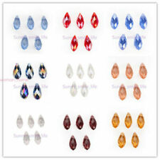 10/30pcs DIY Jewelry Necklace Teardrop Pendant Finding Spacer Loose Bead 8x16mm