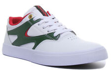 Dc Shoes Kalis Vulc Mens Leather Trainers In White Red Size UK 6 - 12
