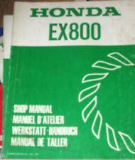 HONDA EX800 SHOP MANUAL (DATE OF ISSUE APRIL 1983) GENUINE HONDA MANUAL