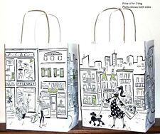 "Gift Bag - Medium, Paper - Parisian Themed 10 1/2"" h  x 7 3/4"" w  x 4 3/4"" deep"