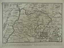 1916 WAR MAP SOUTH-EASTERN TRENTINO AUSTRIAN OFFENSIVE ITLAY WWI WW1