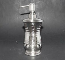 NEW HANDCRAFTED IN INDIA SILVER METAL KITCHEN,BATHROOM SOAP+LOTION DISPENSER