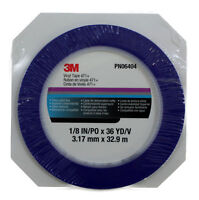 3M 06404 Blue Fine Line Vinyl Striping Tape 471, 1/8 Inch x 36 Yd