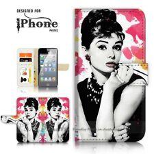 ( For iPhone 8 Plus ) Wallet Case Cover P21325 Audrey Hepburn