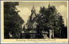 Schlesien Polen um 1930/40 BRÜCKENBERG bei Krummhübel Karpacz Partie Kirche Wang