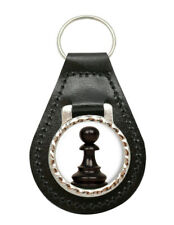 Chess Pawn Leather Key Fob