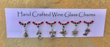 Christmas Themed Wine Glass Charms - Christmas Gifts - Stocking Fillers
