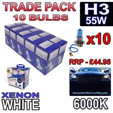 10 x H3 55w Xenon White Halogen Bulbs 6000k - Trade Bulk Wholesale 10 Pack Fog