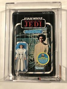 Star Wars Princess Leia Organa 1983 48 Back AFA 50 Cut POP Very Rare ROTJ
