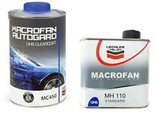 TRASPARENTE Vernice  UHS 2K MACROFAN ANTIGRAFFIO LECHLER MC450 Per Auto & Moto