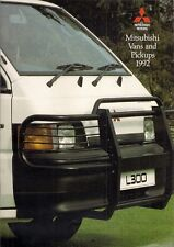 Mitsubishi L200 Pick-Up 2WD 4WD & L300 Van 1992 UK Market Sales Brochure