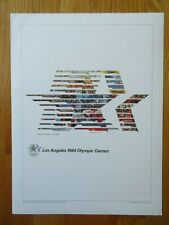 1896-1996 Olympiad SUMMER OLYMPIC GAMES 1984 LOS ANGELES CA Commemorative Poster