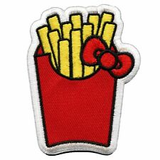 Official Hello Kitty French Fries Embroidered Iron On Patch